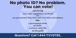 How to vote in Texas if you don't have a photo ID